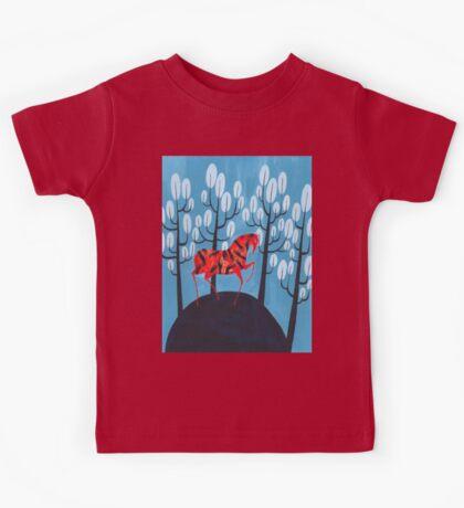 Smug red horse Kids Tee