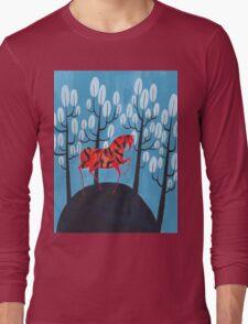 Smug red horse Long Sleeve T-Shirt