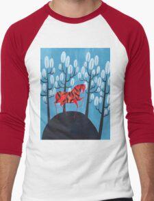 Smug red horse Men's Baseball ¾ T-Shirt
