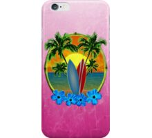 Pink Surfing Sunset iPhone Case/Skin