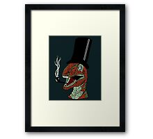 Trex with tophat and a pipe Framed Print