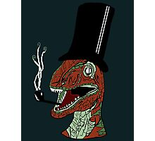 Trex with tophat and a pipe Photographic Print