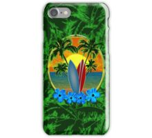 Surfboard Sunset  iPhone Case/Skin