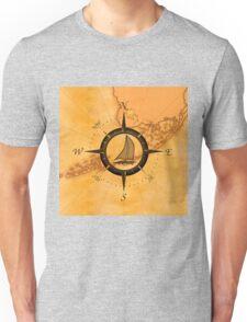 Florida Keys Map Compass Unisex T-Shirt
