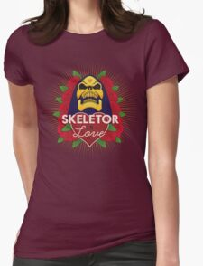 Skeletor is Love Womens Fitted T-Shirt