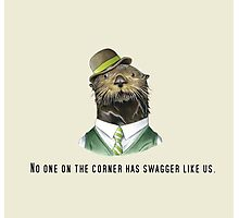 No one on the corner has swagger like us. Photographic Print