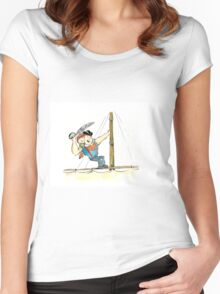Sloth to the rescue! Women's Fitted Scoop T-Shirt