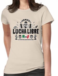 vamos!lucha libre dos Womens Fitted T-Shirt