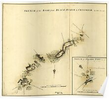 American Revolutionary War Era Maps 1750-1786 893 Sketch of the road from Black Horse to Crosswick Poster