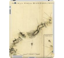 American Revolutionary War Era Maps 1750-1786 893 Sketch of the road from Black Horse to Crosswick iPad Case/Skin