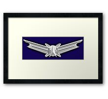 SPACE, American, Air Force, Basic, Space Operations Badge, US, USA, America, American Framed Print
