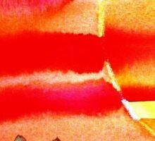 ...into the sun...art by Jutta Gabriel... Sticker