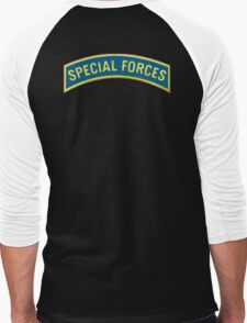 ARMY, AMERICAN, Special Forces, Arm Badge, Black Ops, USA, US, Men's Baseball ¾ T-Shirt
