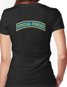 ARMY, AMERICAN, Special Forces, Arm Badge, Black Ops, USA, US, Womens Fitted T-Shirt