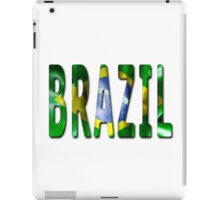 Brazil Word With Flag Texture iPad Case/Skin