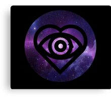 All Time Low Future Hearts Logo (Galaxy Print) Canvas Print