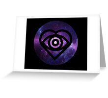 All Time Low Future Hearts Logo (Galaxy Print) Greeting Card