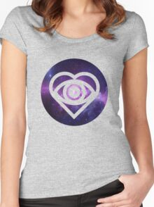 All Time Low Future Hearts Logo (Galaxy Print) Women's Fitted Scoop T-Shirt