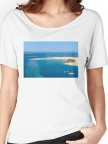Isolated dream resort in the Maldives, Laccadivian Sea Women's Relaxed Fit T-Shirt