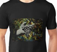 Hand sculpture holding grapes Unisex T-Shirt