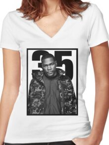 kevin durant Women's Fitted V-Neck T-Shirt