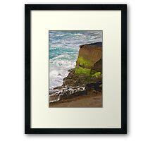 Surf & Cliff Framed Print