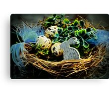 Easter Basket Canvas Print