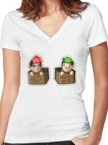 Septiplier-in-a-box Fan Items 3! Women's Fitted V-Neck T-Shirt
