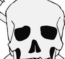 Debate Skull and Cross Gavels  Sticker
