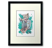 Kitty :3 Framed Print