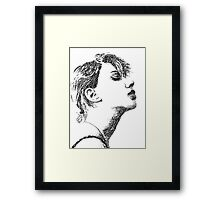 Face Typography Framed Print