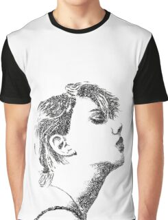 Face Typography Graphic T-Shirt
