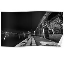 docks of Trieste in the night Poster