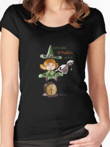 St Patrick's Day- Wicked Witches Women's Fitted Scoop T-Shirt
