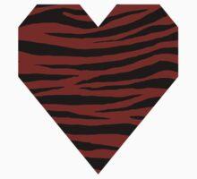0193 Dark Red Tiger One Piece - Short Sleeve