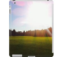 Out on the course iPad Case/Skin