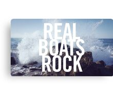 Real Boats Rock Canvas Print