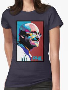 Phil Collins Art Womens Fitted T-Shirt