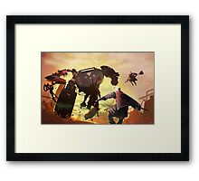 Fight Scene Framed Print