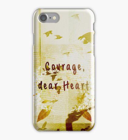courage, dear heart yellow iPhone Case/Skin