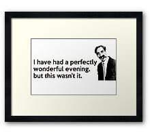 Groucho quote Framed Print