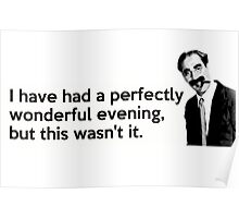Groucho quote Poster