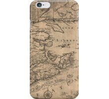 American Revolutionary War Era Maps 1750-1786 967 This map of the province of Nova Scotia and parts adjacent iPhone Case/Skin