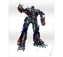 Movie Optimus Prime Blueprint Poster