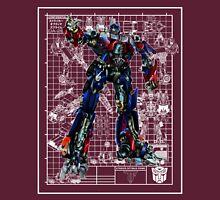 Movie Optimus Prime Blueprint Unisex T-Shirt