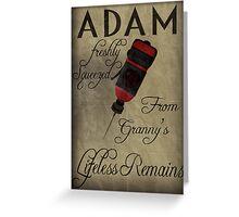 Adam - Bioshock Greeting Card