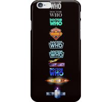 Doctor Who Logos iPhone Case/Skin