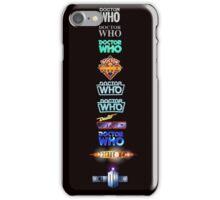 Doctor Who Logos iPhone Case/Skin