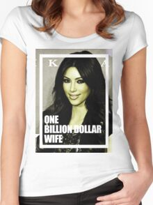 one billion dollar wife Women's Fitted Scoop T-Shirt