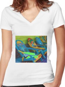 Dreamsicle Women's Fitted V-Neck T-Shirt